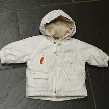 TIMBERLAND TENDER & COMFORTABLE BOYS WHITE PADDED FLEECE LINED HOODED COAT 1M