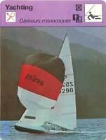 FICHE CARD Dériveurs Monocoques Optimist Vaurien 420 470 505 Voilier Yacht 70s