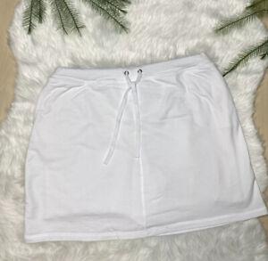 Karen Scott Sport White Knit Skort Tennis Golf Active Wear Women's M. P1x10