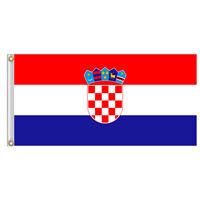 Croatia Croatian National Flag 3x5 ft 150x90cm *Brass Grommets* Hrvatska Zastava