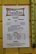 Dewey Weber Surfboards Rare 1960's Original 6x9in. Vintage Surfing Price List