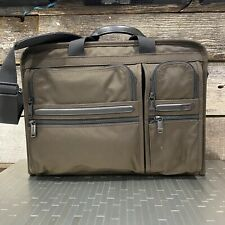 $425 Tumi Alpha 2 Compact Large Computer Screen Commuter Briefcase/Messenger