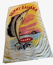 Tommy Bahama Relax Beach Towel Marlin Sailfish Logo Quality Since 1993 69x39