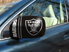 Licensed NFL Oakland Raiders Car Mirror Covers (2-Pack) - Cars/Small SUV's