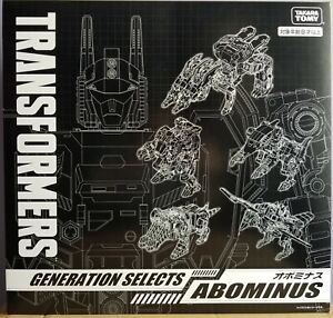 MISB in USA - Transformers Takara-Tomy Generations Selects Abominus IN HAND