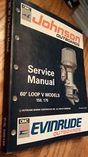 "New listing Johnson Evinrude Service Manual ""En"" 60° Lv Loop V 150, 175 Pn 508146"