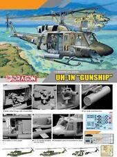 """Dragon 1/35 3540 UH-1N HUEY """"GUNSHIP"""" Helicopter"""