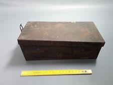 Ancienne Boite en métal déco atelier garage vintage brocante french old box