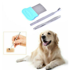Pet Flea Treatment Tick Removal Tool Dog Cat Stainless Steel Fork Comb Clip F Fc