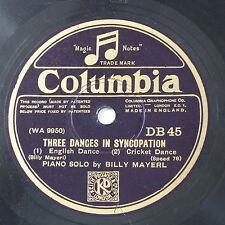 78rpm BILLY MAYERL three dances in syncopation DB 45