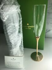 Kate Spade New York Lenox Simply Sparkling GOLD Champagne Crystal Flutes 🥂