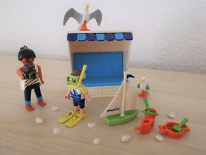 Playmobil 3660 Strandkorb und Urlauber mit Anleitung Freizeit Klicky Geobra