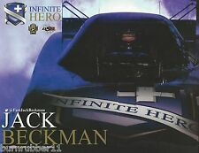 "2016 JACK BECKMAN ""INFINITE HERO DON SCHUMACHER"" NHRA FUNNY CAR HANDOUT POSTCARD"