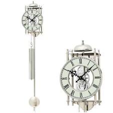 AMS 304 Horloge à pendule accueil Mécanique Montre squelette couleur argent NEUF
