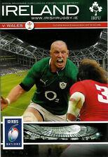 Ireland v Wales Grand Slam season for Wales 5 Feb 2012 Dublin RUGBY PROGRAMME
