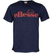 Ellesse Men's T Shirt Logo Blue Messina Small
