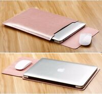 PU Leather Laptop Sleeve Bag Case Cover for MacBook Pro Retina 13 15 Air 11 12