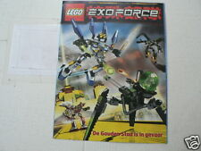 LEGO BROCHURE FLYER CATALOG TOYS EXOFORCE DUTCH 8 PAGES 075