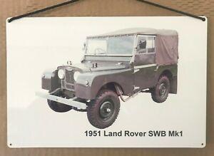 Land Rover Mk1 SWB 1951 - Aluminium Plaque (200 x 300mm) - Landy Fan Gift