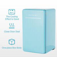 Mini Compact Retro Refrigerator Fridge Eco-friendly w/Chilling Box Blue 3.2 CuFt