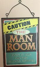 Wood Man Cave Sign  New Without Tags