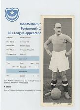 JACK SMITH PORTSMOUTH 1927-1934 RARE ORIGINAL HAND SIGNED TOPICAL TIMES CARD