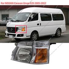 452183329aeb82 LEFT FACELIFT VAN Crystal Headlight for NISSAN LHD Caravan Urvan E25 MK4  05-12