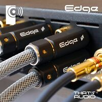 2x EDGE 2m Phono (RCA) Interconnect Cables (1x Pair Male to Male) - THATS AUDIO