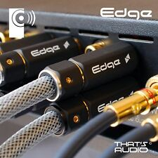 2x EDGE 1m Phono (RCA) Interconnect Cables (1x Pair Male to Male) - THATS AUDIO