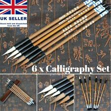 6 x Traditional Chinese Calligraphy Wolf's Writing Practice Writing Brush Set