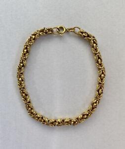 """9ct Gold Byzantine Link Bracelet 7.25"""""""