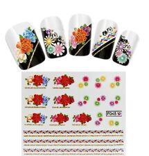 Nail Art WATER Transfer Stickers-Decals-Tattoo Adesivi con Glitter-Manicure !!!