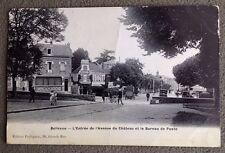 CPA. BELLEVUE. 92 - Bureau Poste. 1909. Entrée Avenue du Château. Au Bon Coin