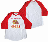 San Francisco 49ers Baseball Tees Red / White Shirt (S / M / L / XL) 2XL/3XL