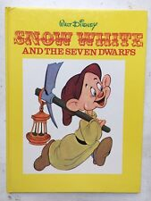 Snow White And The Seven Dwarves Disney Book Vintage 1969 Hardbook