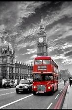 London Westminster Red Bus   Poster A2  SIZE