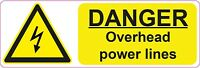 DANGER- Overhead Power Lines - 300x100mm| health and safety | signs/stickers