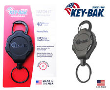 "Key-Bak Ratch-IT Lock Retractable Key Holder Carabiner Heavy Duty 48"" Cord"