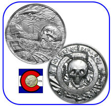 Privateer Davy Jones' Locker 2 oz Silver Round in direct fit capsule