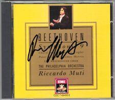 Riccardo MUTI Signiert BEETHOVEN Symphony No.9 Cheryl Studer Peter Seiffert CD