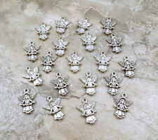 20 Pewter Charms - ANGEL with Heart Garland -CHRISTMAS- 5256
