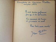 """ENVOI AUTOGRAPHE/ NOCTURNES  Jean Mikha  Collection """" Les heures sombres """" 1959"""