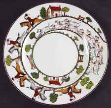 Crown Staffordshire HUNTING SCENE Salad Plate S6317512G2