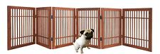 Pet Dog gate Strong and Durable 6 Panel Solid Acacia Hardwood Folding Fence