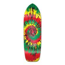 Yocaher Old School Longboard Deck - Tiedye Rasta