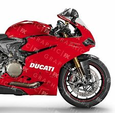 x2 Ducati 996 998 999 Logo Premium Vinyl Tank Fairing Decals - Stickers