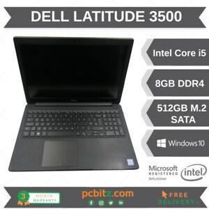 "Dell Latitude 3500 i5-8265u @ 1.6GHz, 8GB, 512GB SSD, Win 10 Pro, 15.6"" Laptop"