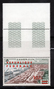 CAMEROUN 1961 Surch REPUBLIQUE FEDERALE 10s.on 200f Brown SG 296a MNH