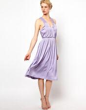 Kore by Sophia Kokosalaki Cross Back Party Dress Purple Size M UK 12/EU 40/US 8