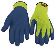1 x Pair Blackrock Thermal Work Gloves Hi Vis Yellow Safety Latex Grip (8401100)